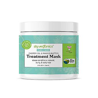 Sky organics treatment condition leave-in hair mask, castor oil & mango butter, 8 oz