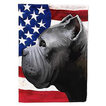 Flags windsocks carolines treasures ck6474gf cane corso dog american flag flag garden size