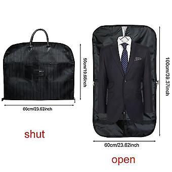 Laundry baskets clothing garment storage bags men's dust covers hanger organizer black