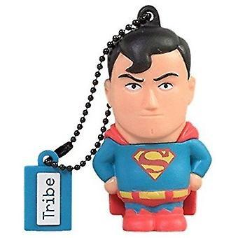 Warner Bros DC Comics Superman USB Stick 16GB Pen Drive USB Memory Stick Flash Drive, Gift Idea 3D