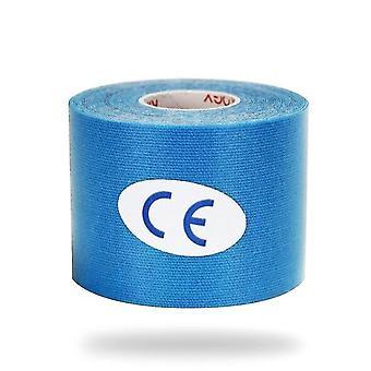 Cinta elástica de kinesiología para la recuperación atlética y el alivio del dolor (azul claro)