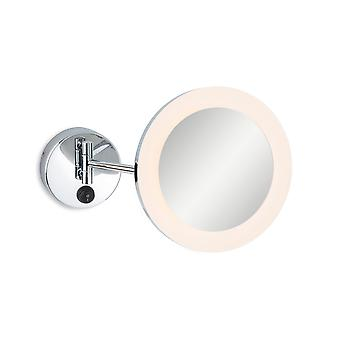 Firstlight Lily Bagno Braccio Regolabile LED Lente d'Ingrandimento Specchio Luce Cromato IP44 - Ingrandimento 3x