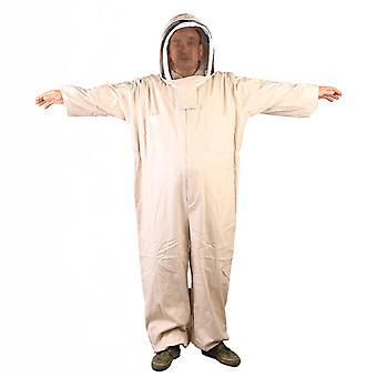 Beige Dicke Kapuzen-Imkerei Uniform Euipment Anti-Bienen-Kleidung