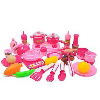 Children Play Kitchen Toy Set Girls Cooking Simulation Induction Cooker Tableware Kitchenware
