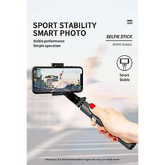 Mobile Phone Stabilizer Tripod Gimbal Portable Image Stabilizer Selfie Stick Camera Photo Chat Video Recorder - Black