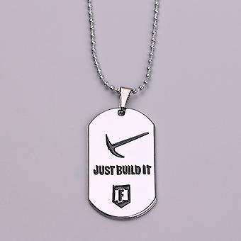 Fortnite Necklace Pendant - Silver