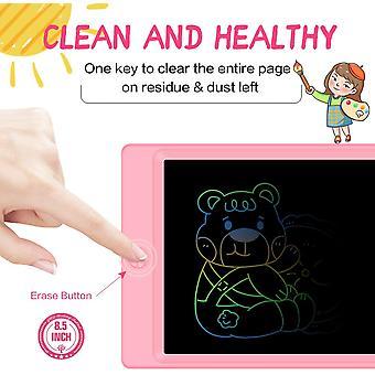 Színes LCD írótábla 8,5 hüvelykig rögzíthető íráshoz, rajzhoz és felvételhez (rózsaszín)