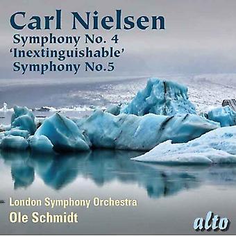 Orquesta Sinfónica de Londres/Schmidt - Carl Nielsen: Sinfonía nº 4 inextinguible; Sinfonía No. 5 [CD] USA importar