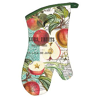 Sweet Apple Cotton Kitchen Oven Mitt Michel Design Works