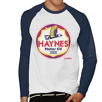 Haynes Brand Richfield Motor Oil Men's Baseball Long Sleeved T-Shirt