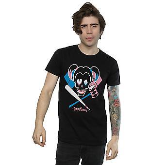Suicide Squad mäns Harley Quinn skalle Emblem T-Shirt