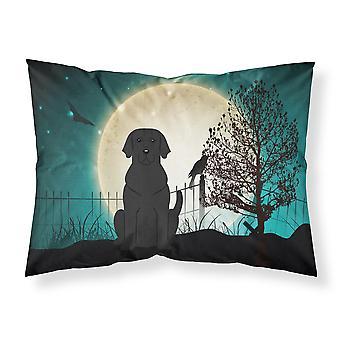 Halloween Scary Black Labrador Fabric Standard Pillowcase