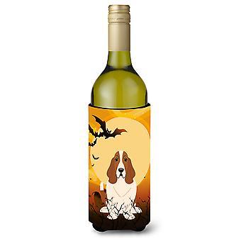 Halloween Basset Hound Wine Bottle Beverge Insulator Hugger