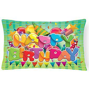 Carolines tesoros APH8872PW1216 feliz cumpleaños tejido decorativo de la almohadilla