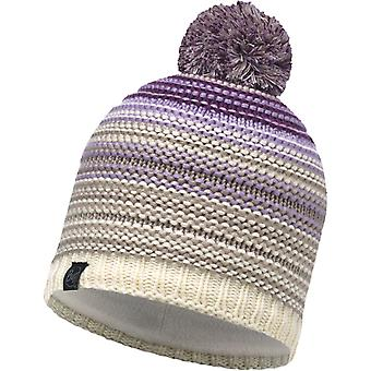 Buff Neper Knitted Bobble Hat in Violet