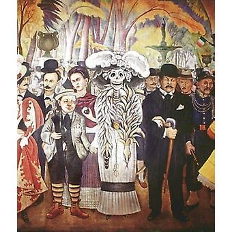 Drømmen om en søndag (Diego-Frida) plakat Print af Diego Rivera (17 x 24)