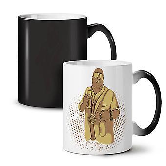 Gangster Pimp Rap muzyka nowy kolor czarny zmiana herbata kawa ceramiczny kubek 11 oz | Wellcoda