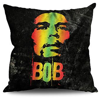 42 Pot Rasta Bob Linen Cushion 30cm x 30cm | Wellcoda