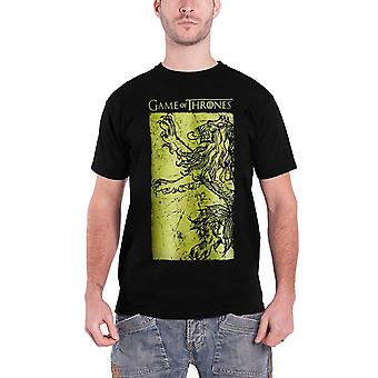 Game of Thrones T Shirt géant Lannister or emblème officiel Mens nouveau noir
