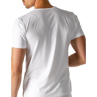 Mey 46102-101 mannen droge katoenen witte effen kleur korte mouwen Top