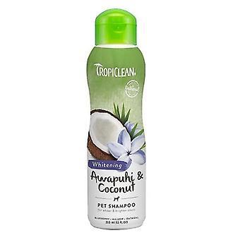 TropiClean Awapuhi & kokosnoot huisdier Whitening Shampoo