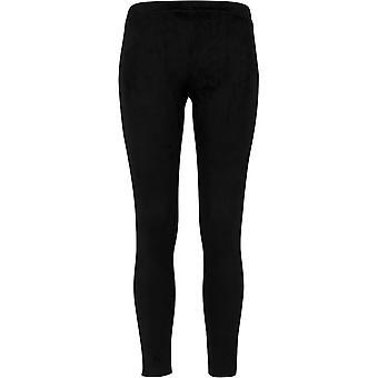 Urban classics ladies - faux suede Leggings Black