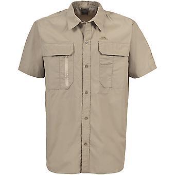 Trespass Mens Colly Short Sleeve Mosquito Repellent Travel Shirt