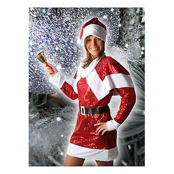 Kvinner kostymer kvinner Glitter Christmas kjole
