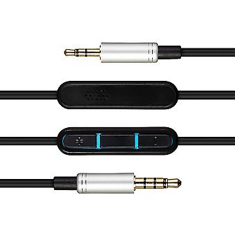 Audio Mic Cable For Bose QC35 QuietComfort 3 QC3 Stereo Cord