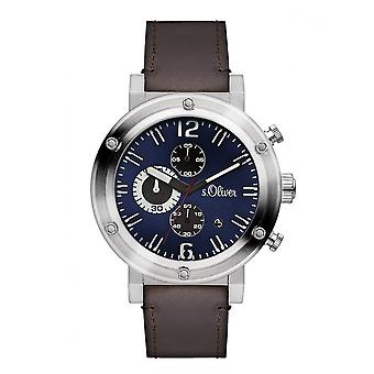 s.Oliver mænds ur armbåndsur SO-3097-LC