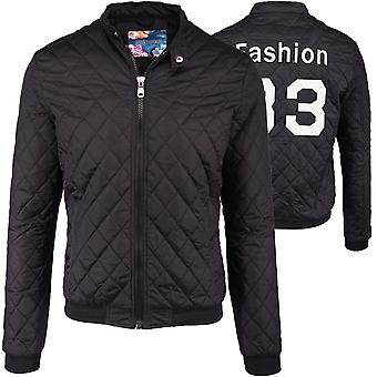 Mens Blouson Jacket trendy FASHION 33 Statement Jacket quilted black