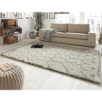 Design cut pile carpet deep pile frame cream