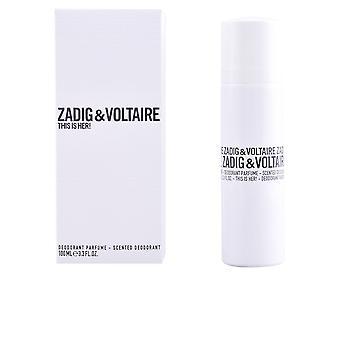 Zadig & Voltaire Tämä on hänen! Deo Spray 100 ml Naisille