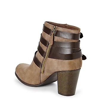 Madden Girl Womens Deluxe Fabric Closed Toe Ankle Fashion Boots