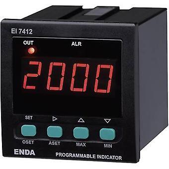 Enda EI7412-SM-AS12 SW Universal LED-display EI7412 0 - 20 mA/4 - 20 mA/0 - 1 V/0 - 10 V