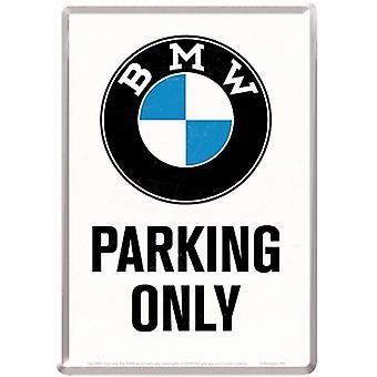 BMW, парковка только металлические открытка / мини-знак 155 мм Х 110 мм