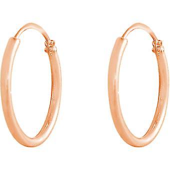 BOUCLES d'oreilles GEMSHINE 585 cerceau en or rose en tailles 10 mm 16 mm