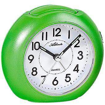 Atlanta 1933/6 alarm clock quartz green light green Apple green quietly without ticking with light