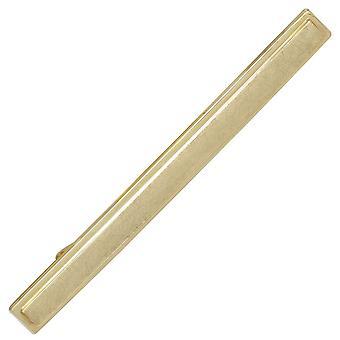 スライド、タイピン ネクタイ ホルダー 333 ゴールド イエロー ゴールド部分的氷霜のネクタイします。
