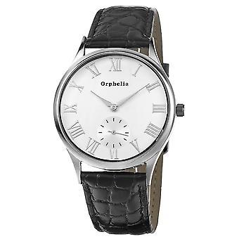 ORPHELIA Mens Analog Uhr Standard schwarz Leder 122-6702-14