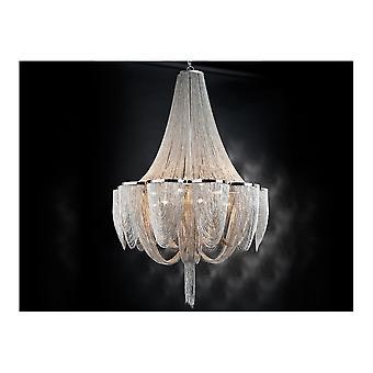Schuller Stunning Super Modern Minerva Fine Chain 15 Bulb Chandelier