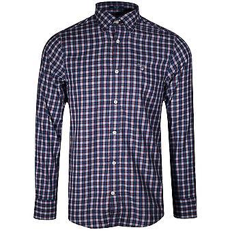 Gant College Blue Twill Check Chemise à manches longues