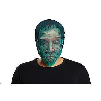 Maske Zombie grün Überziehstrumpf für Kopf Accessoire Karneval Fasching BRÜLLER