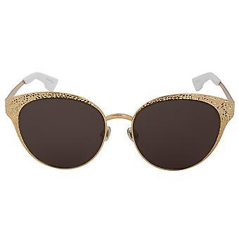 Christian Dior gafas de sol de Y3B8E único oro 24 quilates