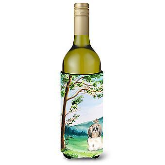 Under the Tree Shih Tzu Wine Bottle Beverage Insulator Hugger