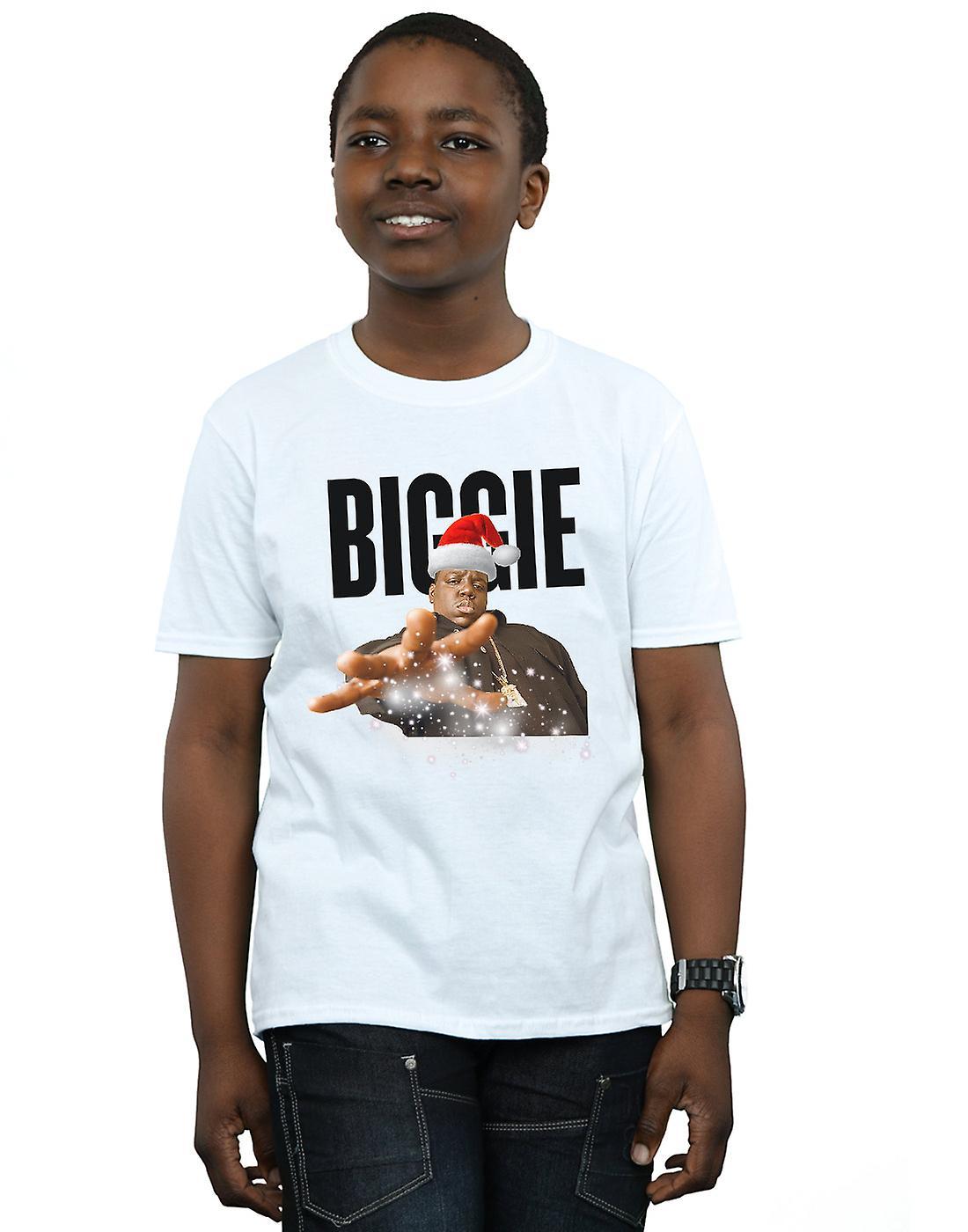 Notorious BIG Boys Biggie Christmas Hat T-Shirt