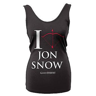 Spel van tronen ik hou van Jon Snow T-Shirt Girlie