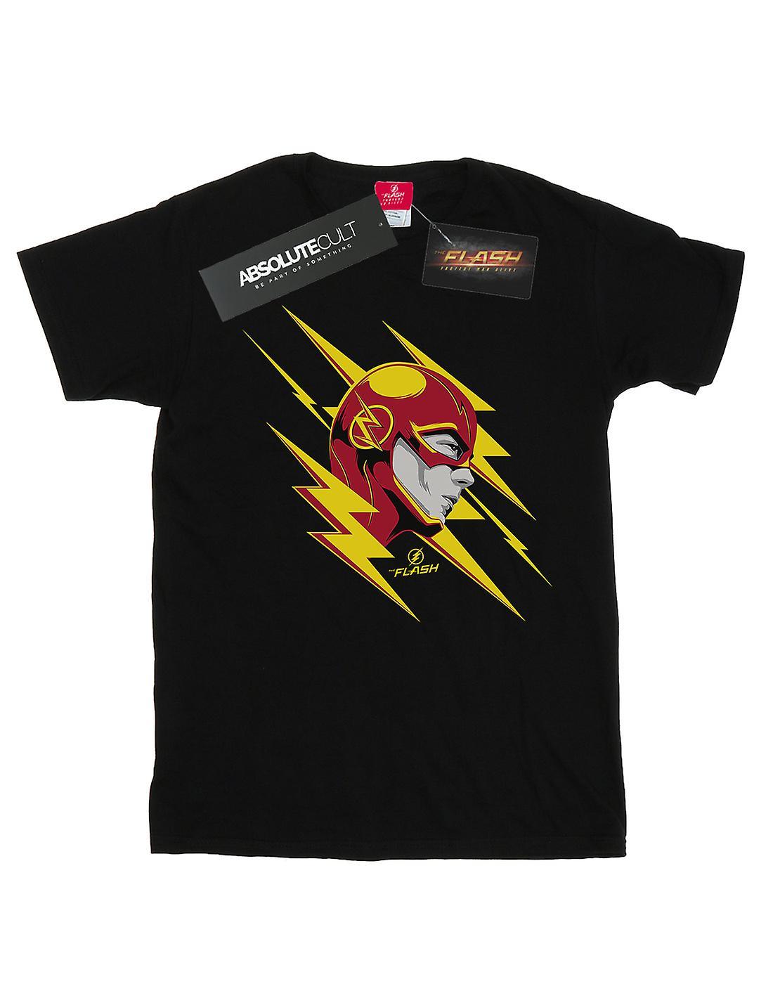 DC Comics Men's The Flash Lightning Portrait T-Shirt