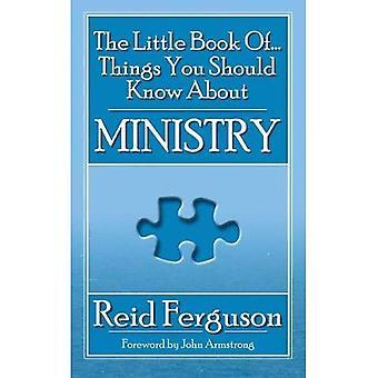 The Little Book van dingen die u moet weten over ministerie