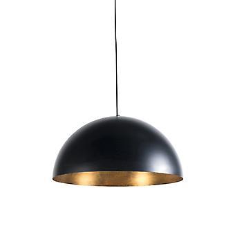 QA-QA Lampada da appendere Industriale nera con oro 50 cm - Magna Eco